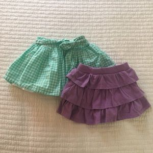 LOT OF 2 SKIRTS :: 18M + 2T